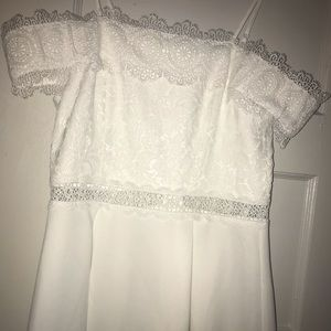 White Eyelet Lace Dress by Francesca's Collections